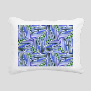 creative checkered blue Rectangular Canvas Pillow