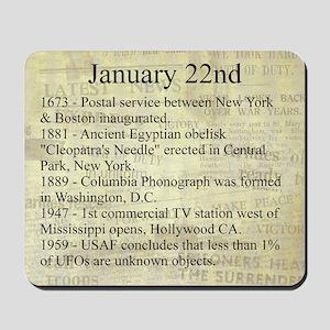 January 22nd Mousepad