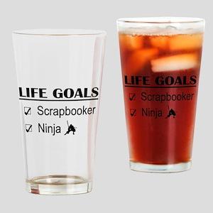 Scrapbooker Ninja Life Goals Drinking Glass