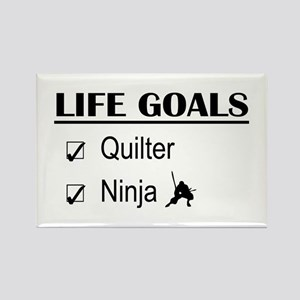 Quilter Ninja Life Goals Rectangle Magnet