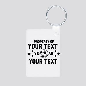 Personalized Property of Soccer Keychains