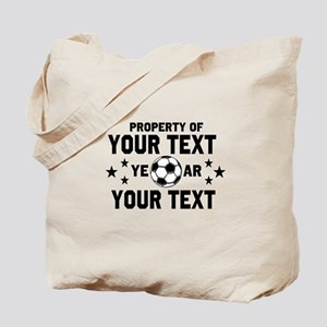 Personalized Property of Soccer Tote Bag