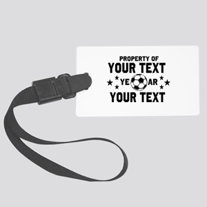 Personalized Property of Soccer Luggage Tag