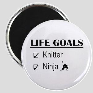 Knitter Ninja Life Goals Magnet