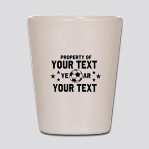 Personalized Property of Soccer Shot Glass