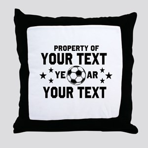 Personalized Property of Soccer Throw Pillow