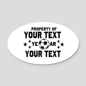 Personalized Property of Soccer Oval Car Magnet