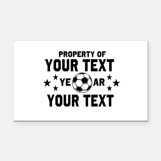 Personalized Property of Soccer Rectangle Car Magn