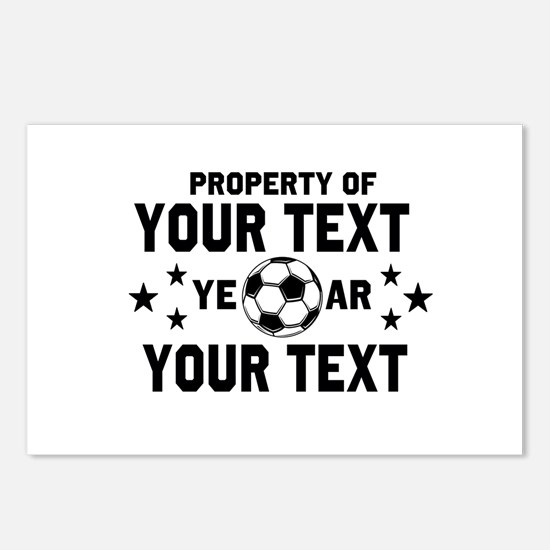 Personalized Property of Soccer Postcards (Package