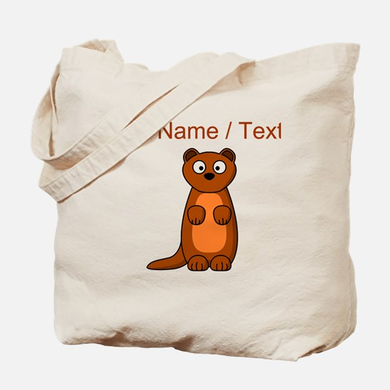 Custom Cartoon Weasel Tote Bag