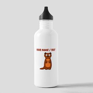 Custom Cartoon Weasel Water Bottle