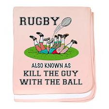 Rugby Kills baby blanket