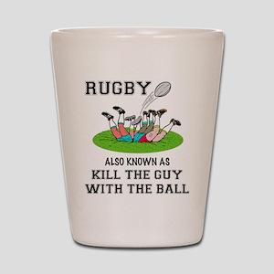 Rugby Kills Shot Glass