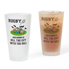 Rugby Kills Drinking Glass