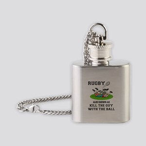Rugby Kills Flask Necklace