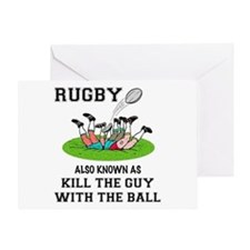 Rugby Kills Greeting Card