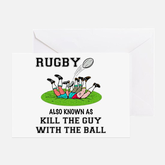Rugby Kills Greeting Card