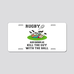 Rugby Kills Aluminum License Plate