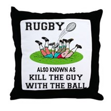 Rugby Kills Throw Pillow