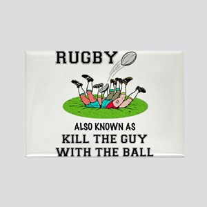 Rugby Kills Rectangle Magnet