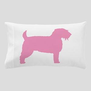 Pink Wheaten Terrier Silhouette Pillow Case