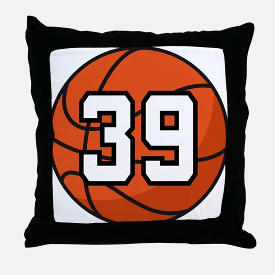 Basketball Player Number 39 Throw Pillow