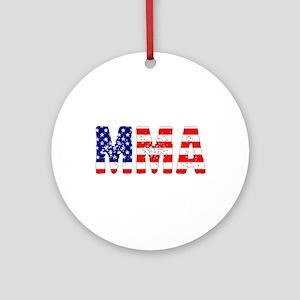 MMA USA Flag Ornament (Round)