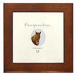 Horse Theme #11050 Framed Tile