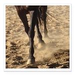 Horse Theme Design #4000 Square Car Magnet 3