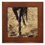 Horse Theme Design #40000 Framed Tile