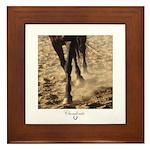 Horse Theme Design #60000 Framed Tile
