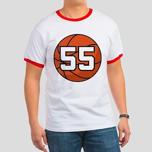 Basketball Player Number 55 Ringer T