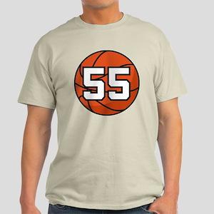 Basketball Player Number 55 Light T-Shirt