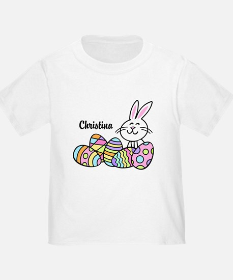 Personalized Bunny And Eggs T