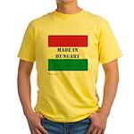 """Made in Hungary"" Yellow T-Shirt"