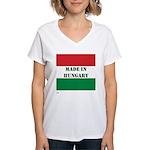 """""""Made in Hungary"""" Women's V-Neck T-Shirt"""