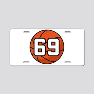 Basketball Player Number 69 Aluminum License Plate
