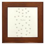 Horse Design #80000 Framed Tile