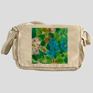 Blue Florals Messenger Bag