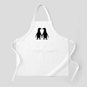 Penguin couple love Apron