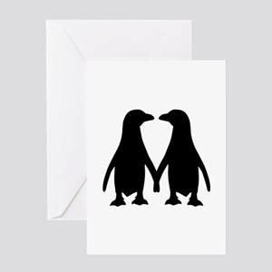 Penguin couple love Greeting Card
