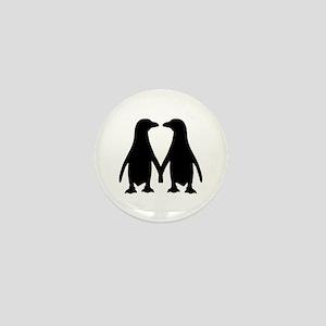 Penguin couple love Mini Button