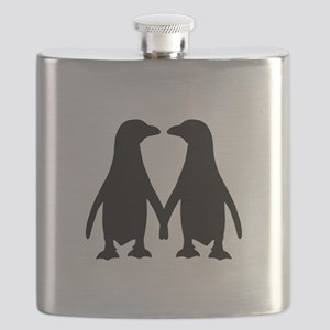 Penguin couple love Flask