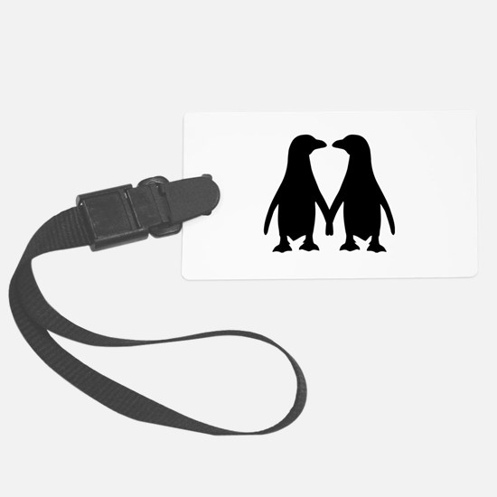 Penguin couple love Luggage Tag