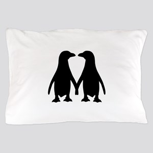 Penguin couple love Pillow Case