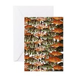 5 grouper pattern Greeting Cards