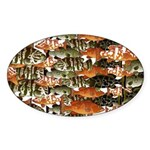 5 grouper pattern Sticker