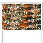 5 grouper pattern Yard Sign