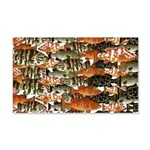 5 grouper pattern Wall Decal