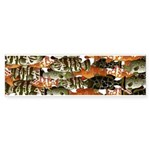 5 grouper pattern Bumper Sticker